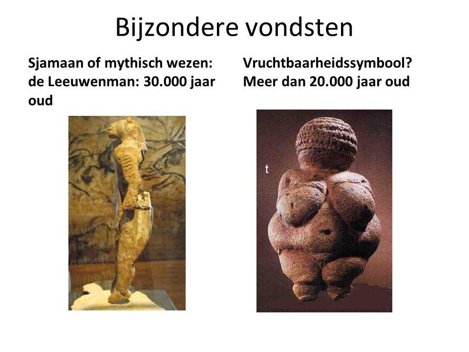Bijzondere vondsten Sjamaan of mythisch wezen: de Leeuwenman: 30.000 jaar oud. Vruchtbaarheidssymbool Meer dan 20.000 jaar oud.