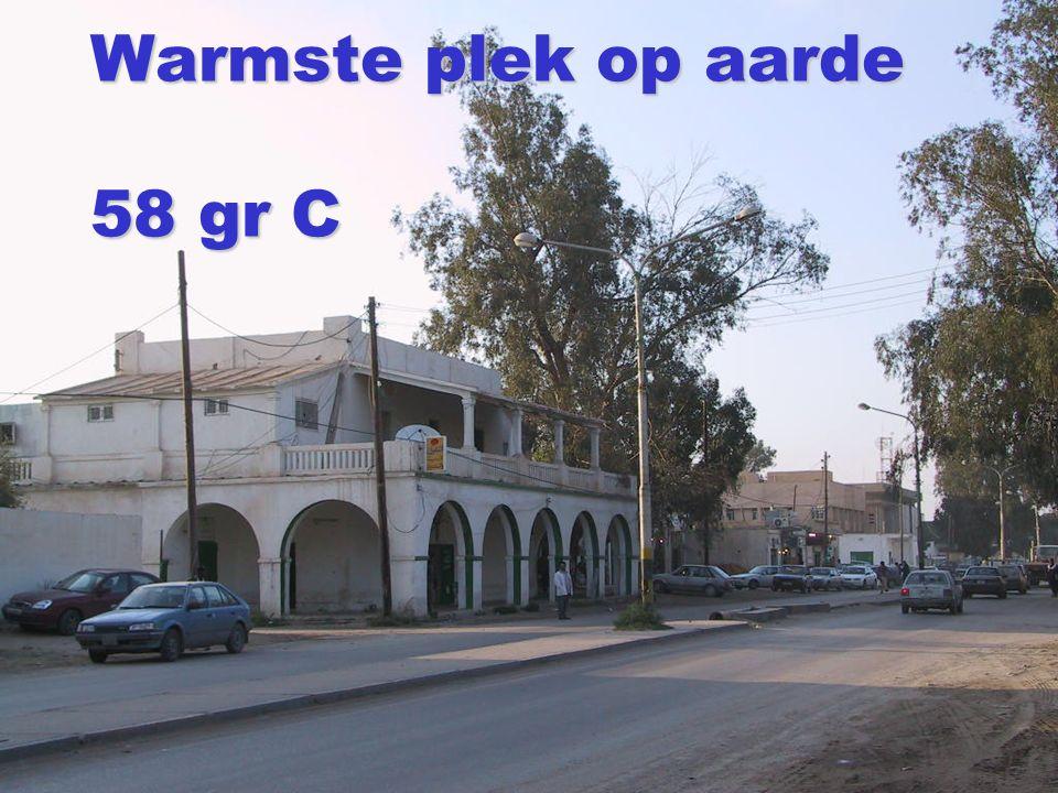 Warmste plek op aarde 58 gr C