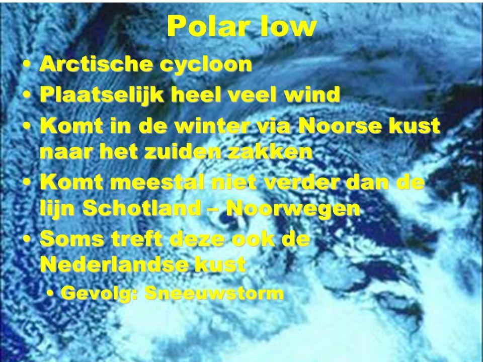 Polar low Arctische cycloon Plaatselijk heel veel wind