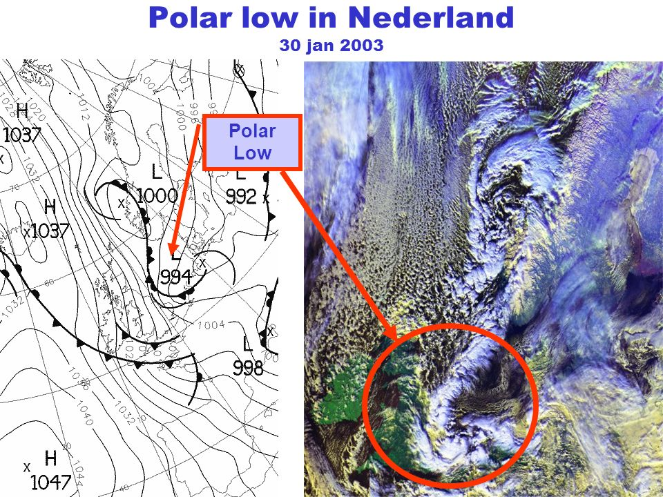 Polar low in Nederland 30 jan 2003