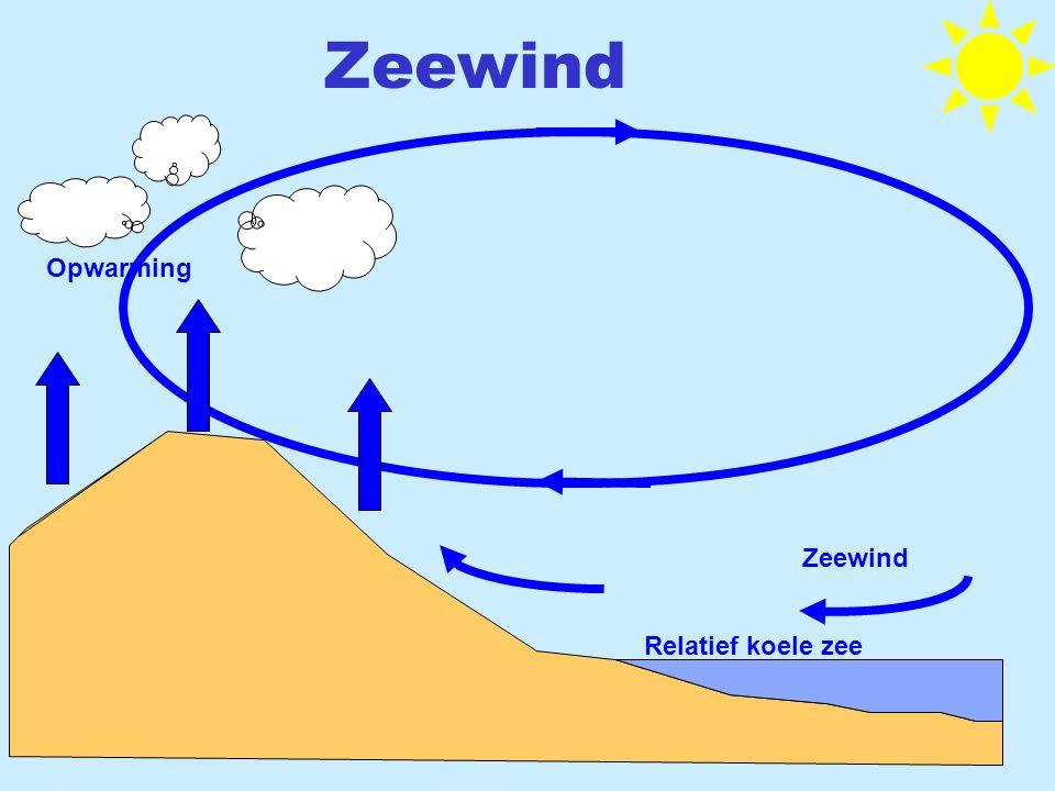 Zeewind Opwarming Zeewind Relatief koele zee