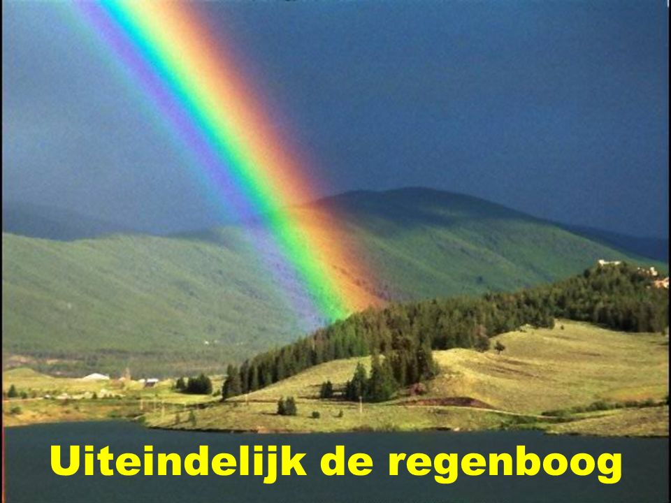 Uiteindelijk de regenboog