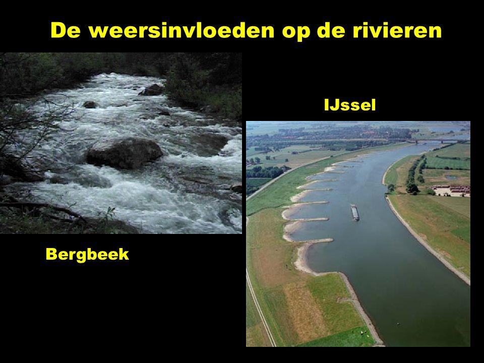 De weersinvloeden op de rivieren