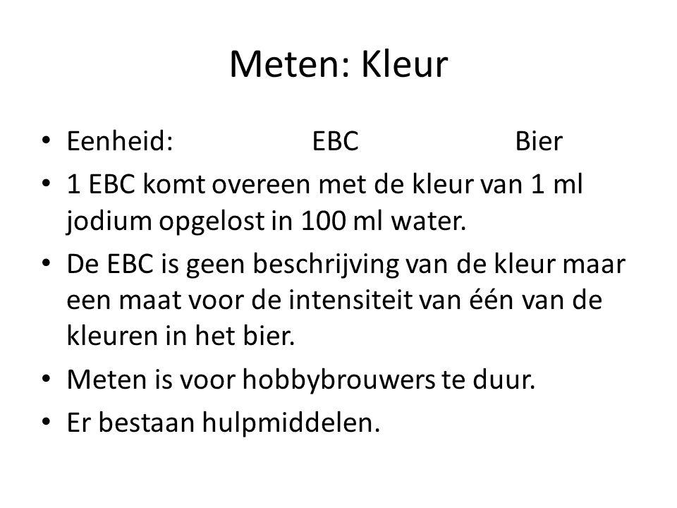 Meten: Kleur Eenheid: EBC Bier