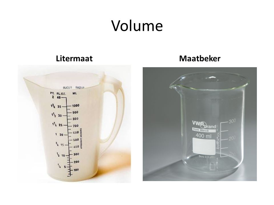 Volume Litermaat Maatbeker