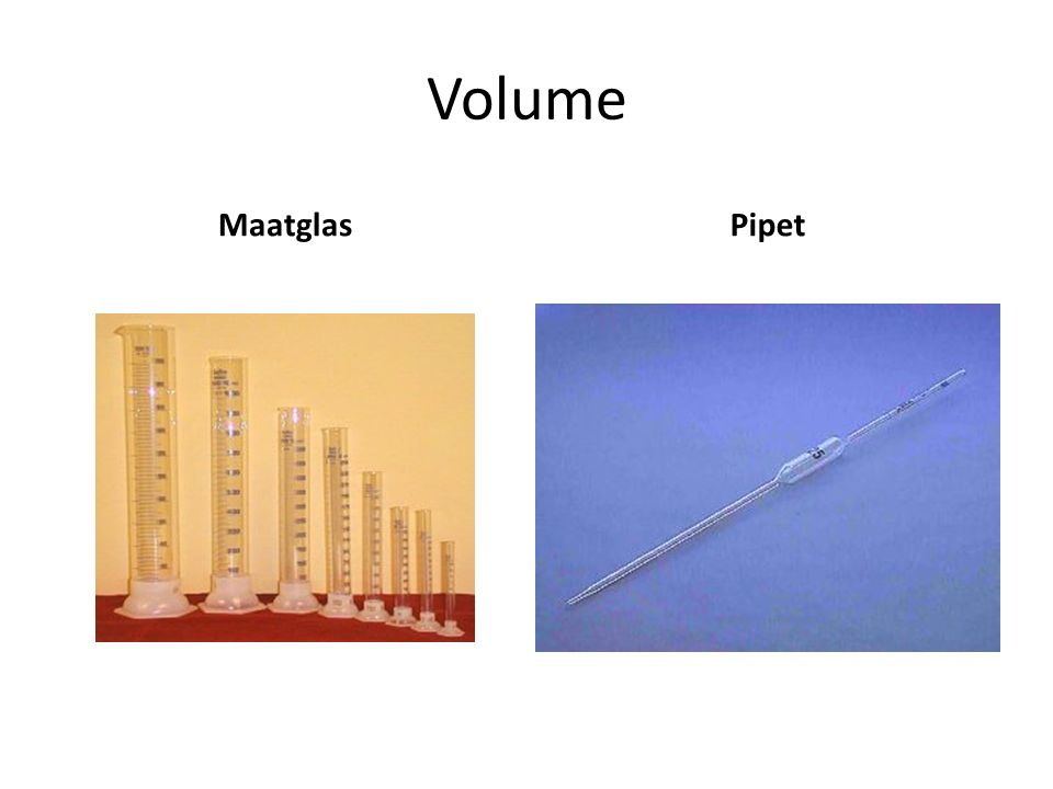 Volume Maatglas Pipet