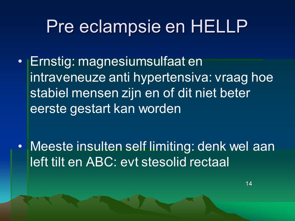 Pre eclampsie en HELLP