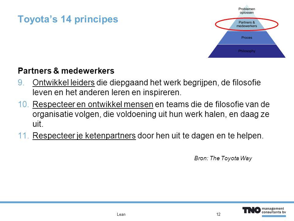 Toyota's 14 principes Partners & medewerkers