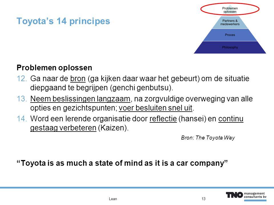 Toyota's 14 principes Problemen oplossen
