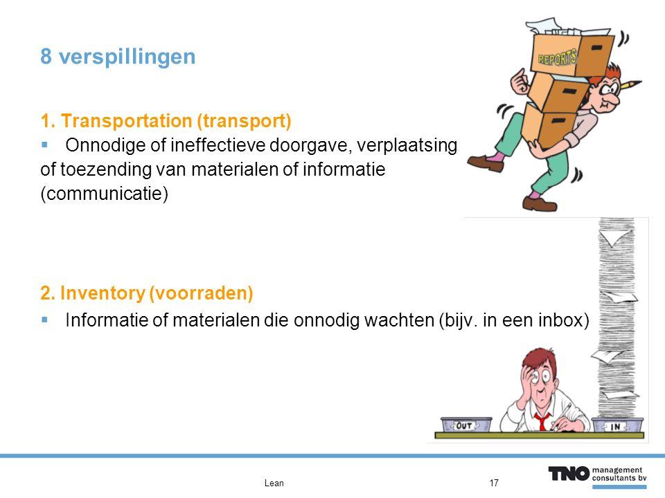 8 verspillingen 1. Transportation (transport)