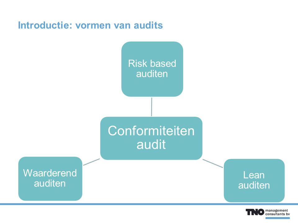 Introductie: vormen van audits