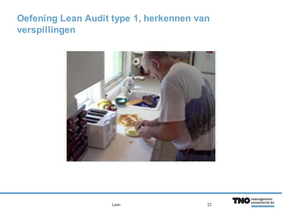 Oefening Lean Audit type 1, herkennen van verspillingen