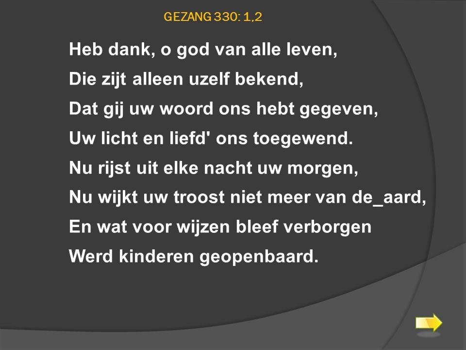 Gezang 330: 1,2