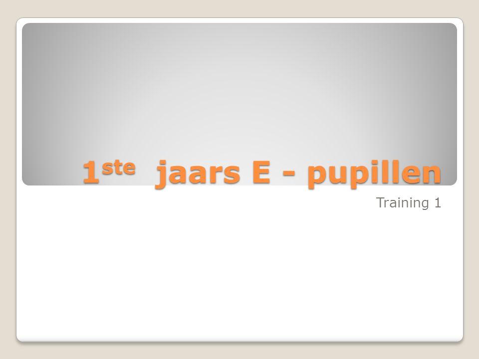 1ste jaars E - pupillen Training 1