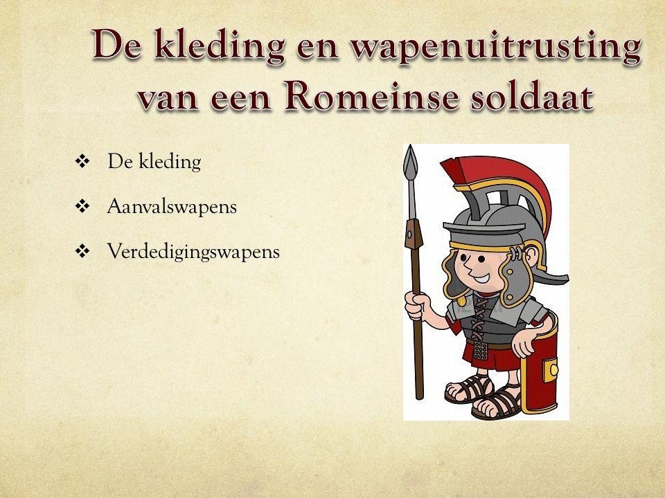 De kleding en wapenuitrusting van een Romeinse soldaat