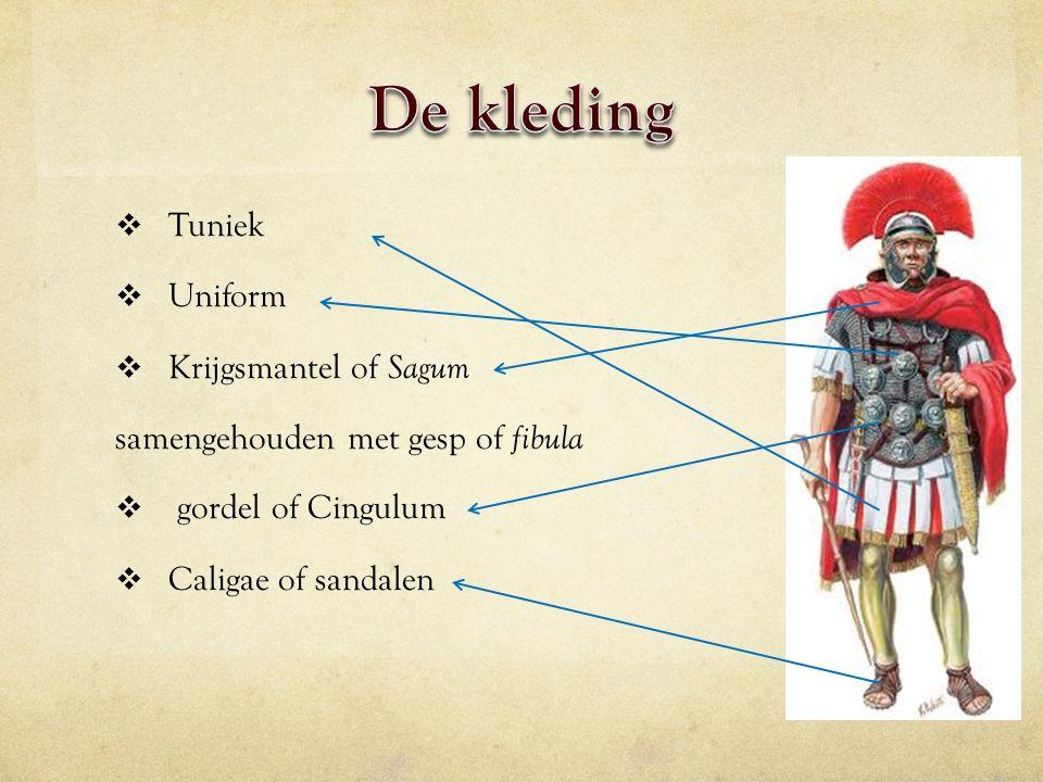 De kleding Tuniek Uniform Krijgsmantel of Sagum