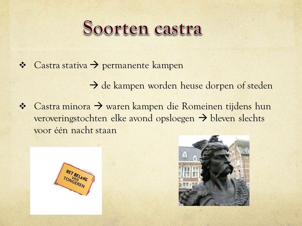 Soorten castra Castra stativa  permanente kampen