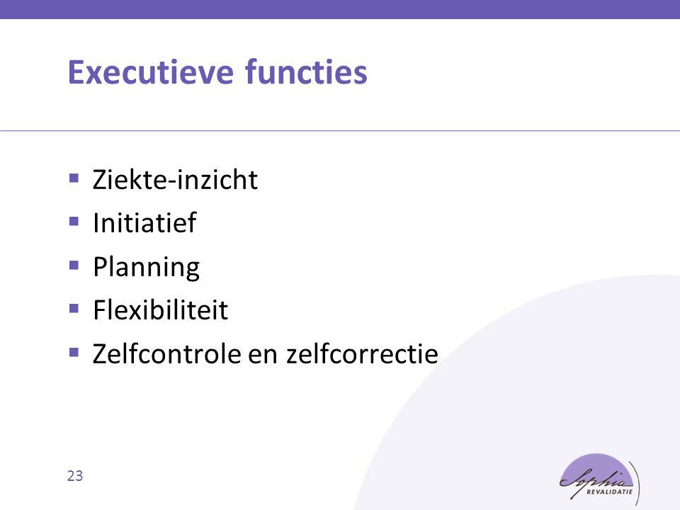 Executieve functies Ziekte-inzicht Initiatief Planning Flexibiliteit
