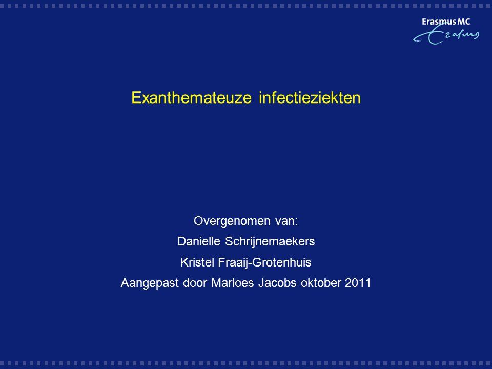 Exanthemateuze infectieziekten