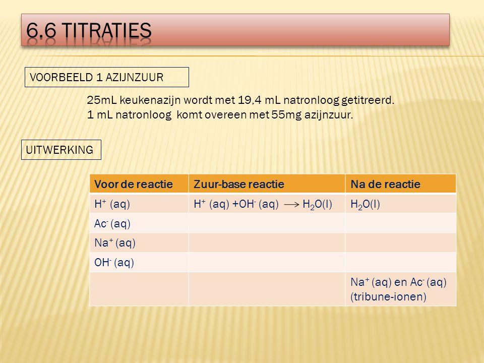 6.6 titraties VOORBEELD 1 AZIJNZUUR