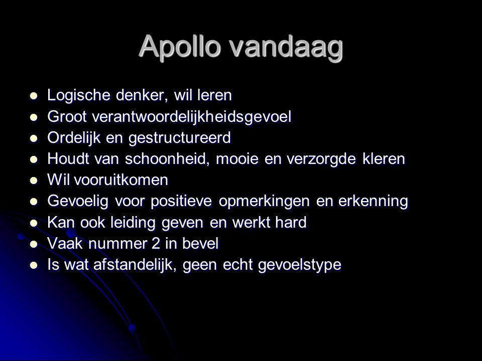 Apollo vandaag Logische denker, wil leren
