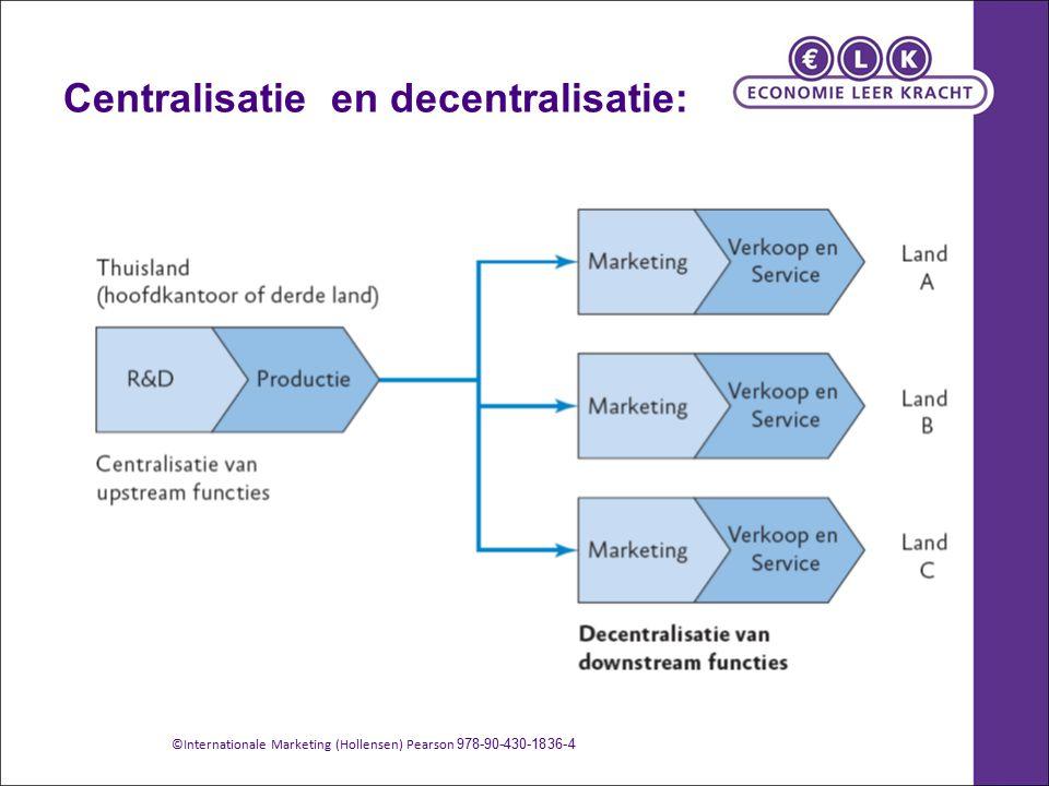 Centralisatie en decentralisatie: