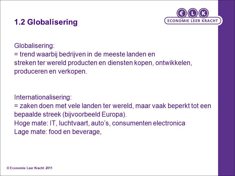 1.2 Globalisering Globalisering: