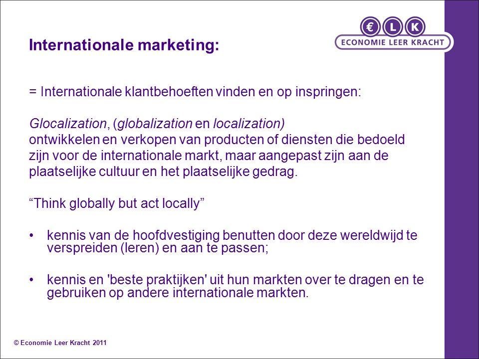 Internationale marketing: