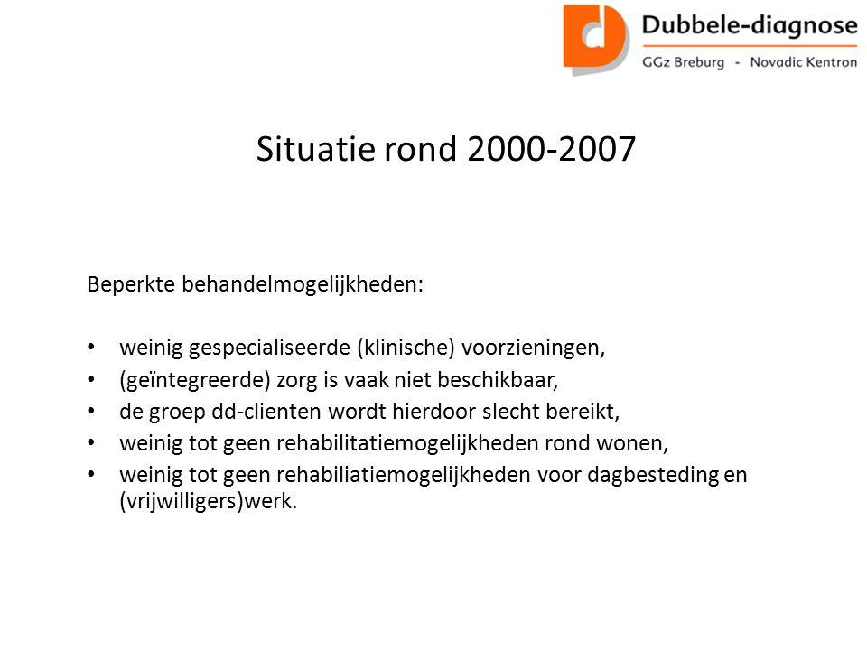 Situatie rond 2000-2007 Beperkte behandelmogelijkheden: