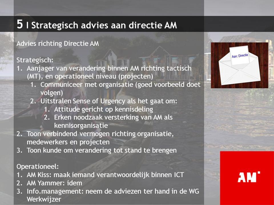 5 I Strategisch advies aan directie AM