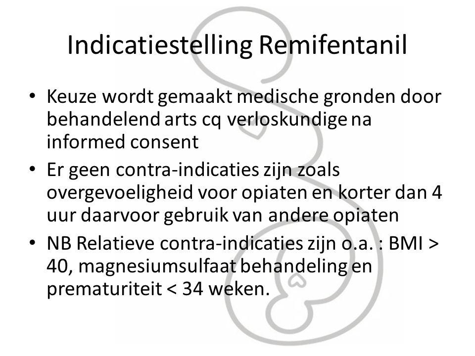 Indicatiestelling Remifentanil