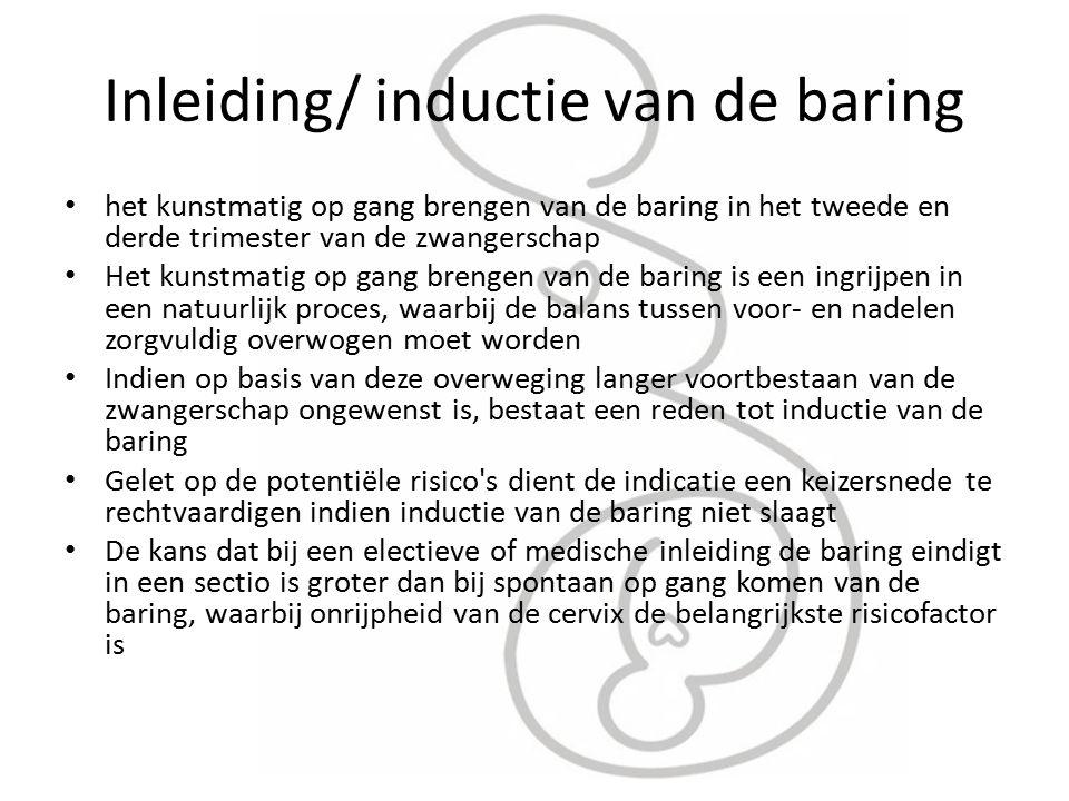 Inleiding/ inductie van de baring