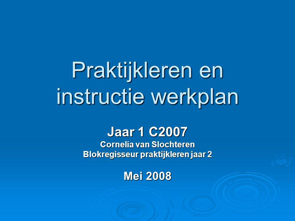 Praktijkleren en instructie werkplan