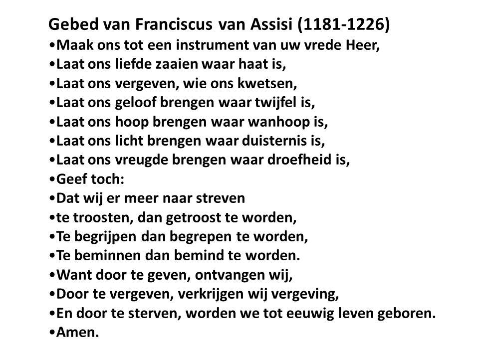 Gebed van Franciscus van Assisi (1181-1226)