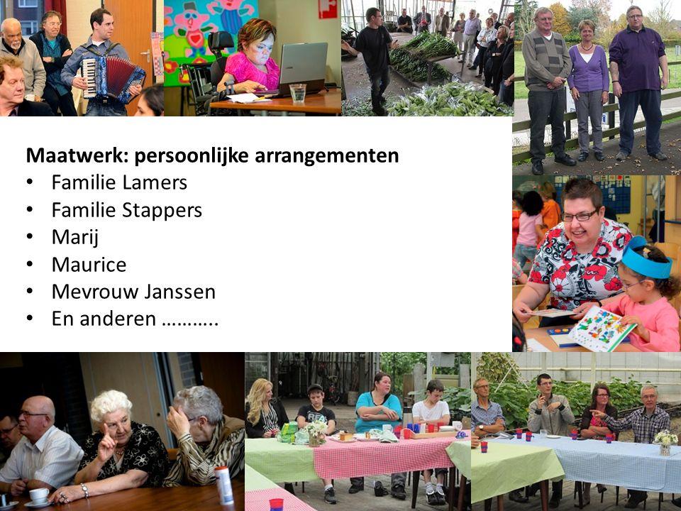 Maatwerk: persoonlijke arrangementen