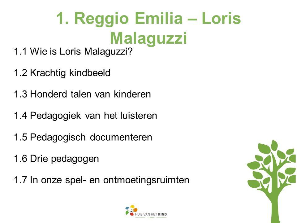 1. Reggio Emilia – Loris Malaguzzi