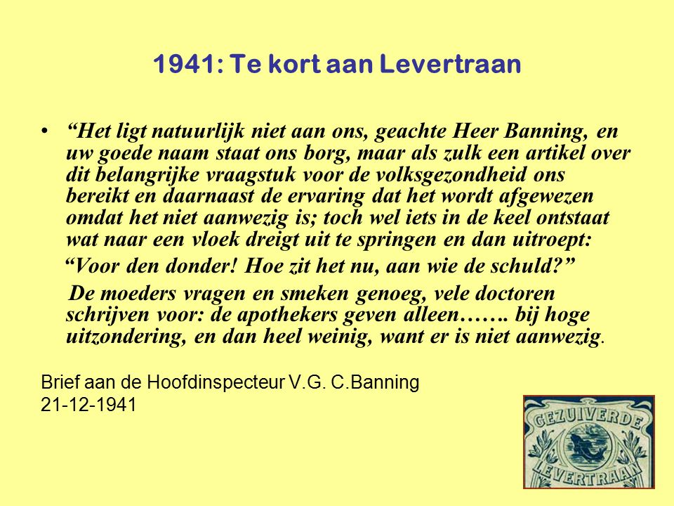 1941: Te kort aan Levertraan