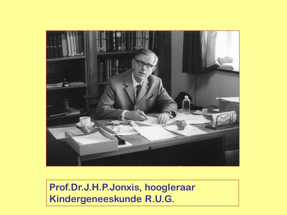 Prof.Dr.J.H.P.Jonxis, hoogleraar Kindergeneeskunde R.U.G.
