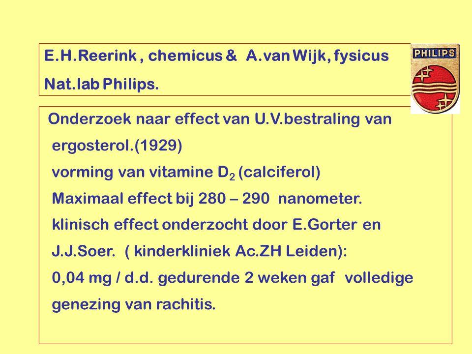 E.H.Reerink , chemicus & A.van Wijk, fysicus
