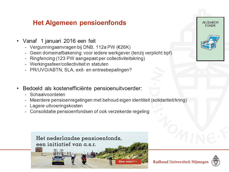 Het Algemeen pensioenfonds