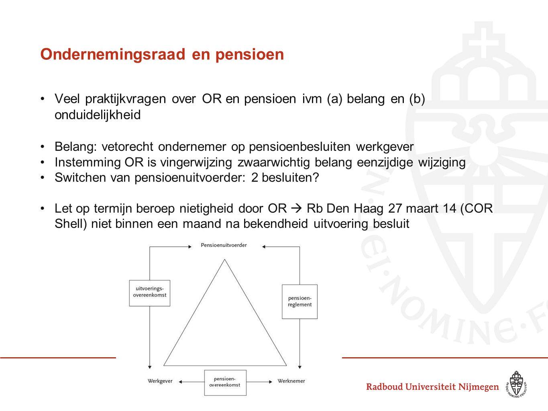 Ondernemingsraad en pensioen