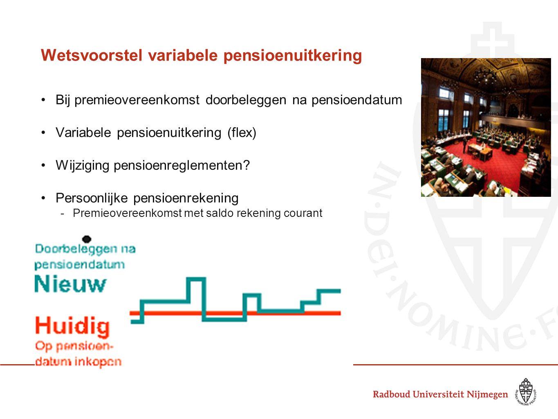 Wetsvoorstel variabele pensioenuitkering