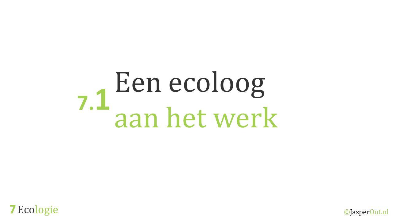 Een ecoloog aan het werk