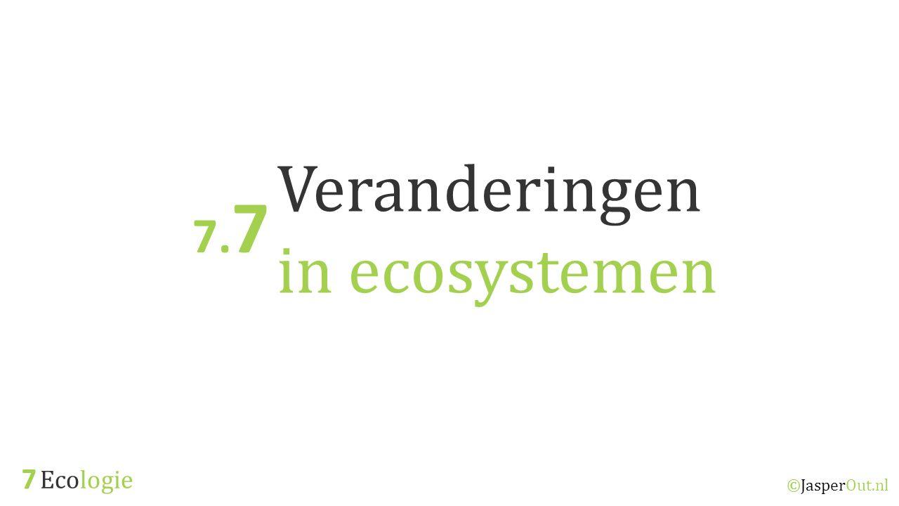 Veranderingen in ecosystemen