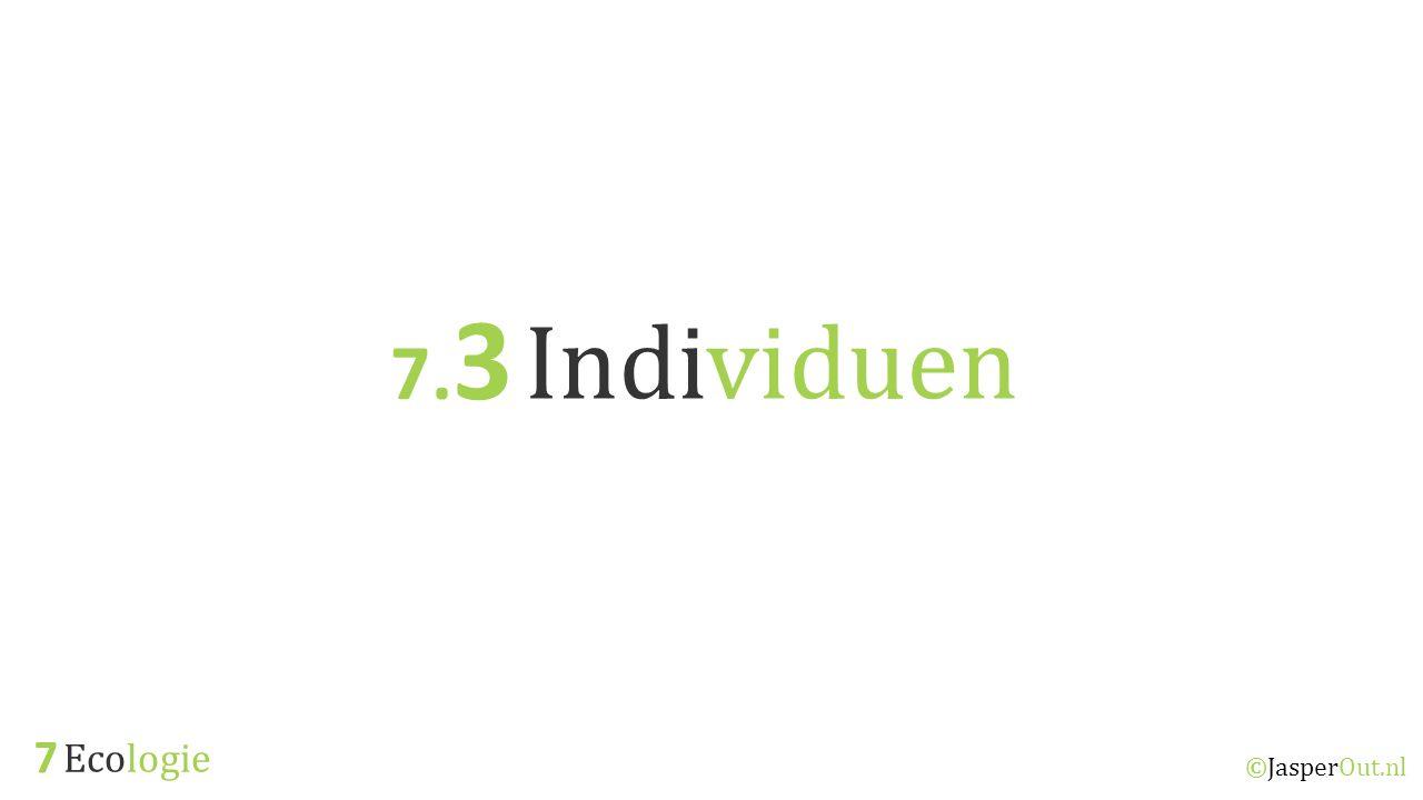 7.3 Individuen 7 Ecologie ©JasperOut.nl