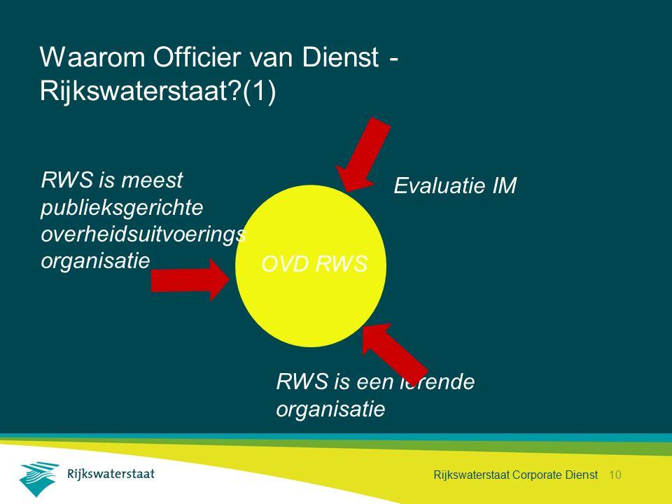 Waarom Officier van Dienst - Rijkswaterstaat (1)