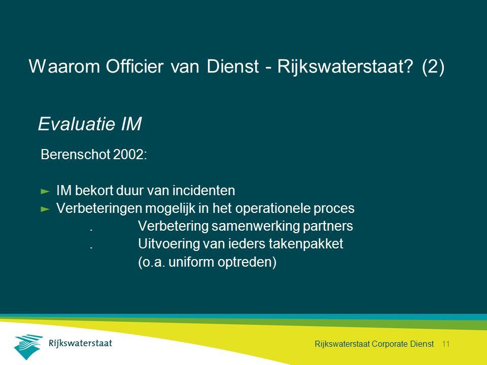 Waarom Officier van Dienst - Rijkswaterstaat (2)