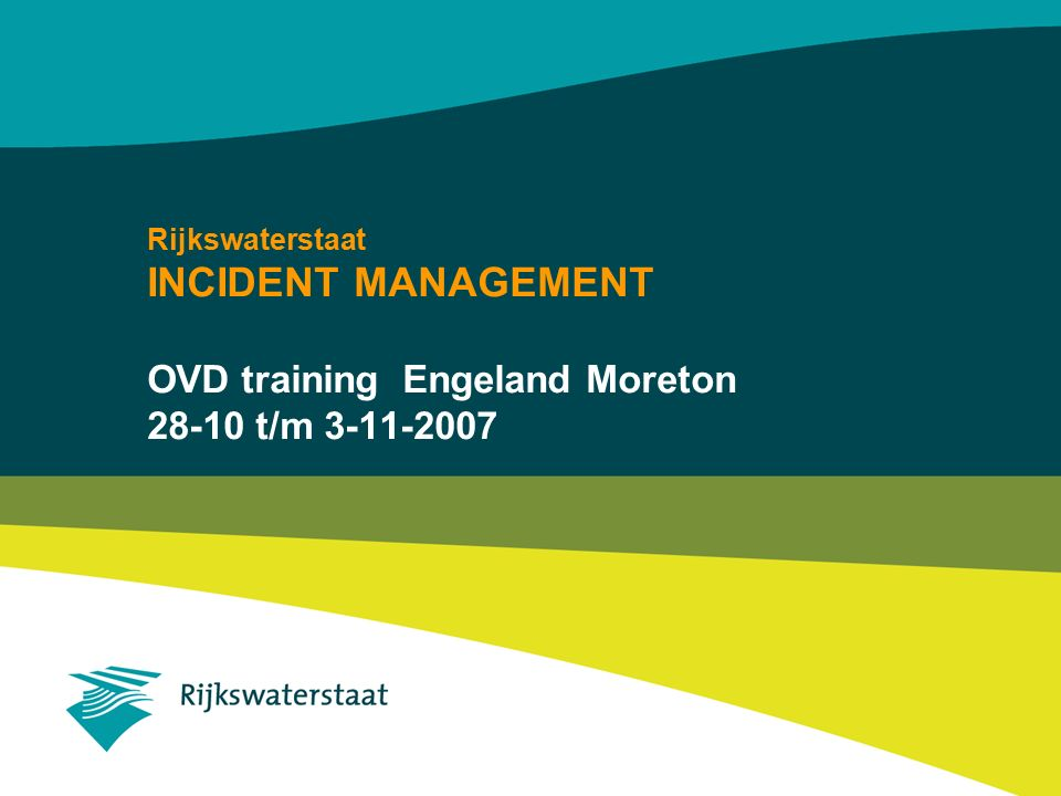 INCIDENT MANAGEMENT OVD training Engeland Moreton 28-10 t/m 3-11-2007
