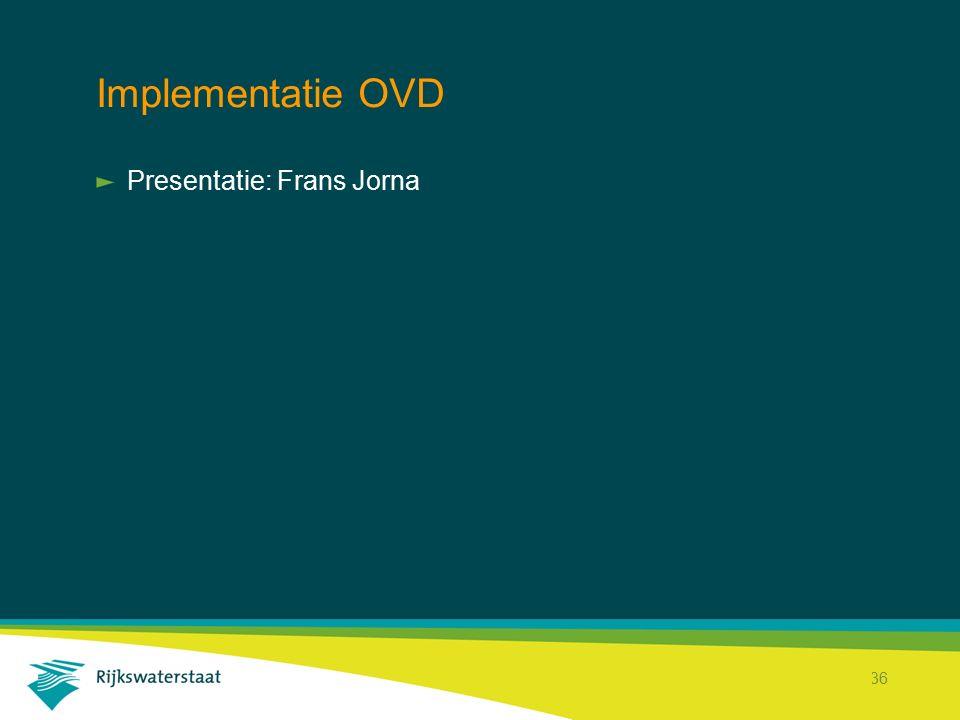 Implementatie OVD Presentatie: Frans Jorna