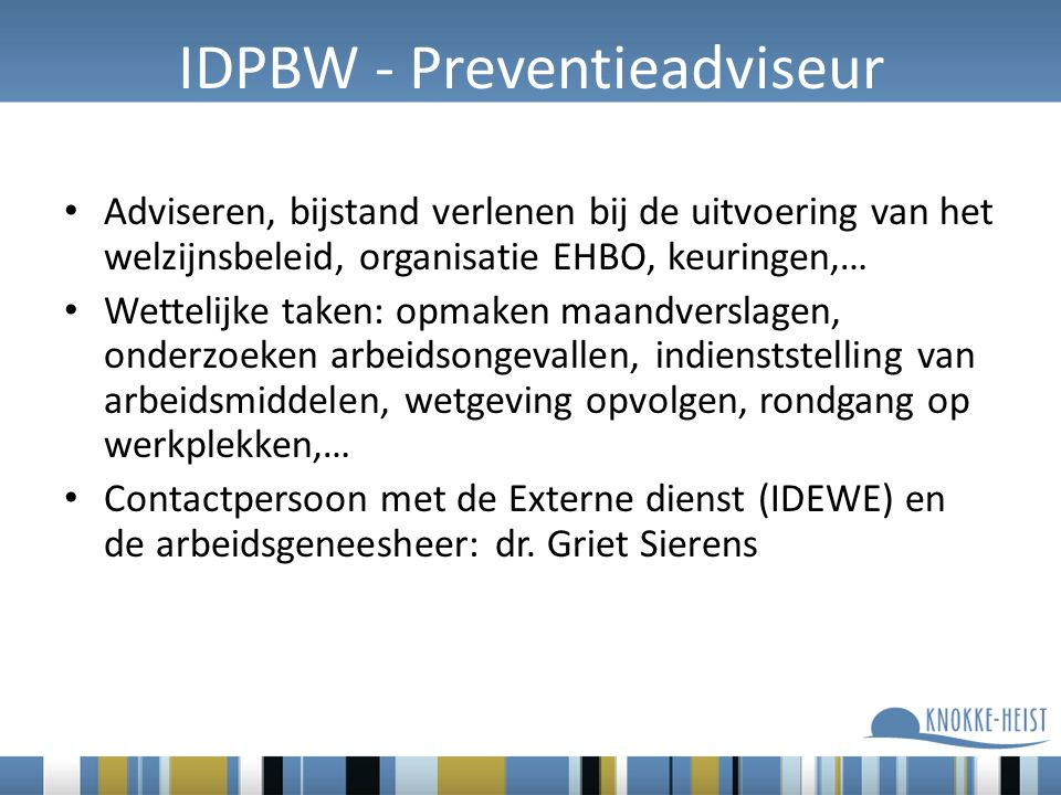 IDPBW - Preventieadviseur